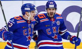 СКА в овертайме обыграл «Локомотив» в матче КХЛ